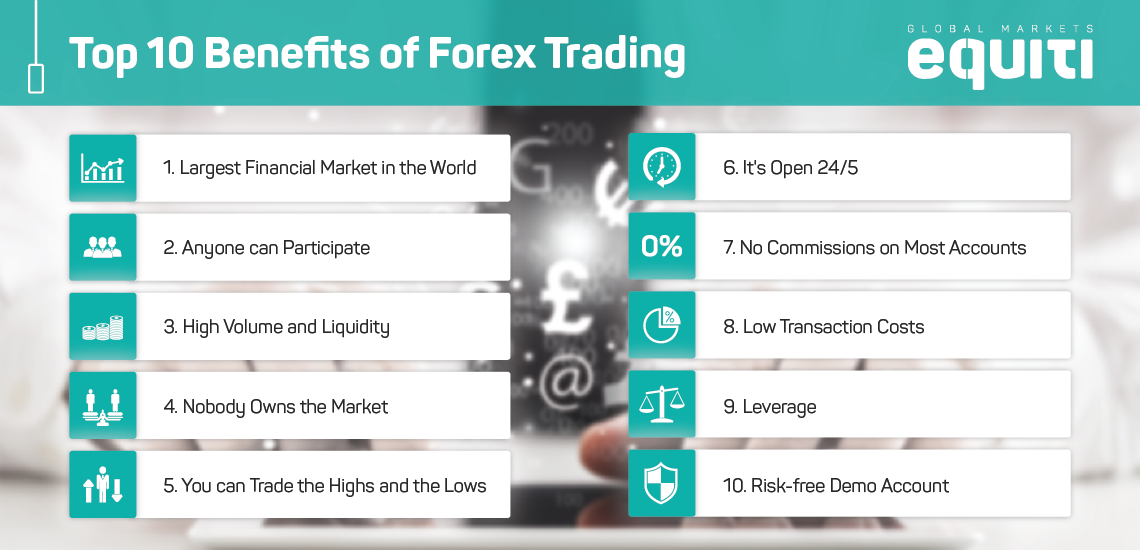 Top 10 Benefits of Trading Forex